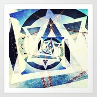 Endless triangles Art Print
