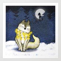 Peace Under The Moon Art Print