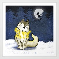 Peace under the Moon Art Print