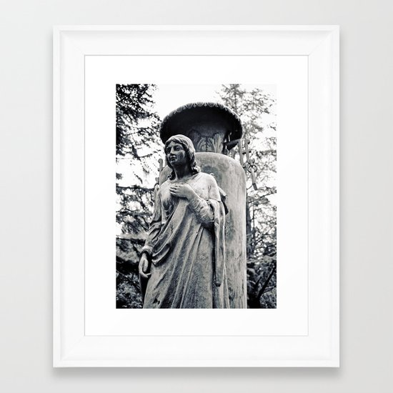 Angel without wings Framed Art Print