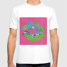 Lips Mens Fitted Tee White SMALL