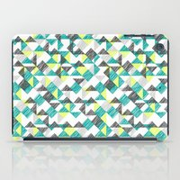 scribble triangles iPad Case