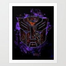 Autobots Abstractness - Transformers Art Print