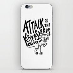The Attack of Kitty-o-Saurus! iPhone & iPod Skin