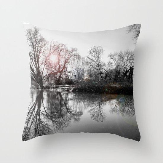 TREE-FLECTION Throw Pillow