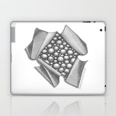 Zentangle 3D Box of Balls Black and White Illustration Laptop & iPad Skin