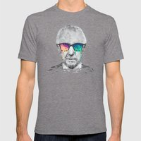 Albert Hofmann - Psychedelic Polygon Low Poly Portrait Mens Fitted Tee Tri-Grey SMALL