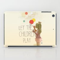 Let The Children Play iPad Case
