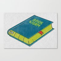Book Worm Canvas Print