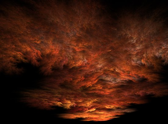Fractal Sunset Art Print