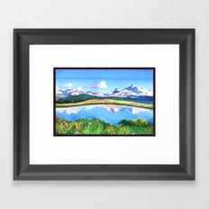 Some Mountains Framed Art Print