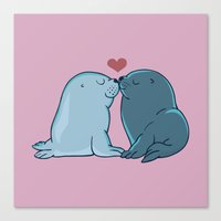 Seal Kisses Canvas Print