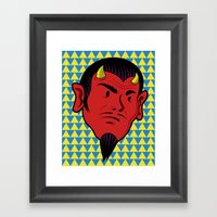 Beady Eyed Satan Framed Art Print