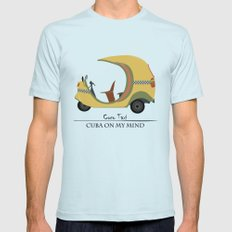 Coco Taxi - Cuba in my mind Mens Fitted Tee Light Blue SMALL
