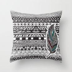 Aztec Feather. Throw Pillow