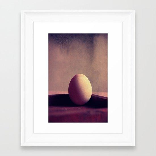 just one egg Framed Art Print