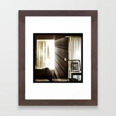 Let the light shine through. Framed Art Print