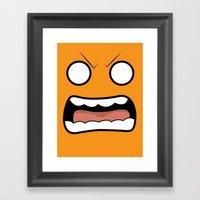 Scary Face Framed Art Print