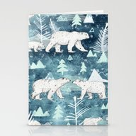 Stationery Cards featuring Ice Bears by Sandra Dieckmann