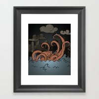 Octopi Movement  Framed Art Print