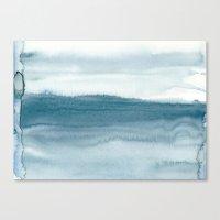 indigo shibori 04 Canvas Print