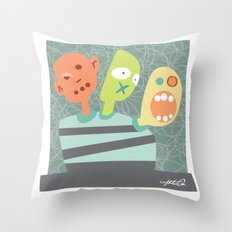3 Heads are Better than One Throw Pillow