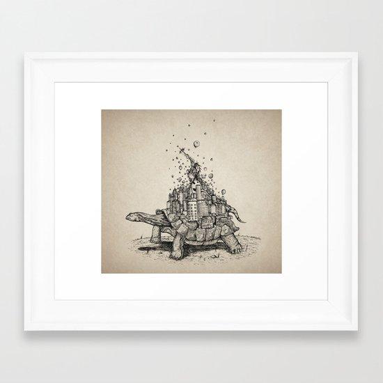 Tortoise Town Framed Art Print