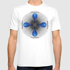 Pure Info SMALL White Mens Fitted Tee