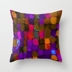 Painted Swatches: Exuberance Throw Pillow