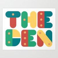 The Den Art Print