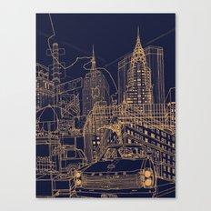 New York! Night Canvas Print