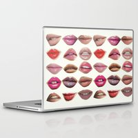 lips Laptop & iPad Skins featuring Lips by Emily Kenney