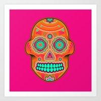 sugar skull Art Prints featuring Sugar Skull by Good Sense