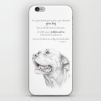 Murphy :: Loyalty [with Quote] iPhone & iPod Skin