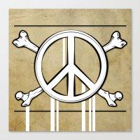 Peace Crossbones Canvas Print
