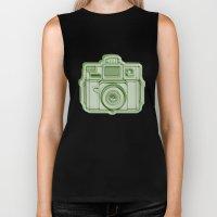 I Still Shoot Film Holga Logo - Reversed Green Biker Tank