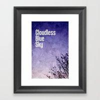 Cloudless Blue Sky Framed Art Print