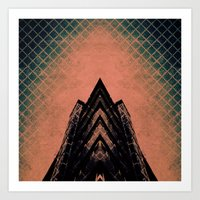 Graphic Building Art Print