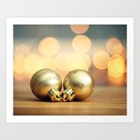 Gold Ornaments Art Print