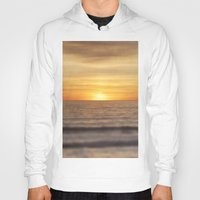 California Sunset Over Ocean Hoody