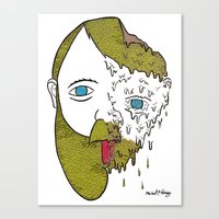 Face Melter Print Canvas Print