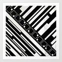 Stripes and Squares II Art Print