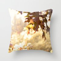 Hazy Autumn Throw Pillow