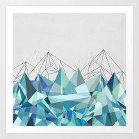 Colorflash 3 Turquoise Art Print