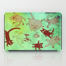 levitating kitties iPad Case