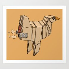 Space Chicken Art Print