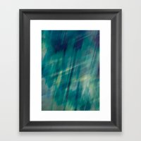 Submerge Aqua Framed Art Print