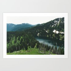SIAMESE LAKES MONTANA Art Print