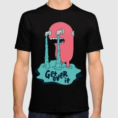 Get Over It SMALL Mens Fitted Tee Black