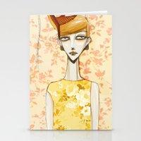 Flowerella 4 Stationery Cards